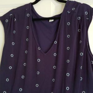 Womens cotton knit batik print dress